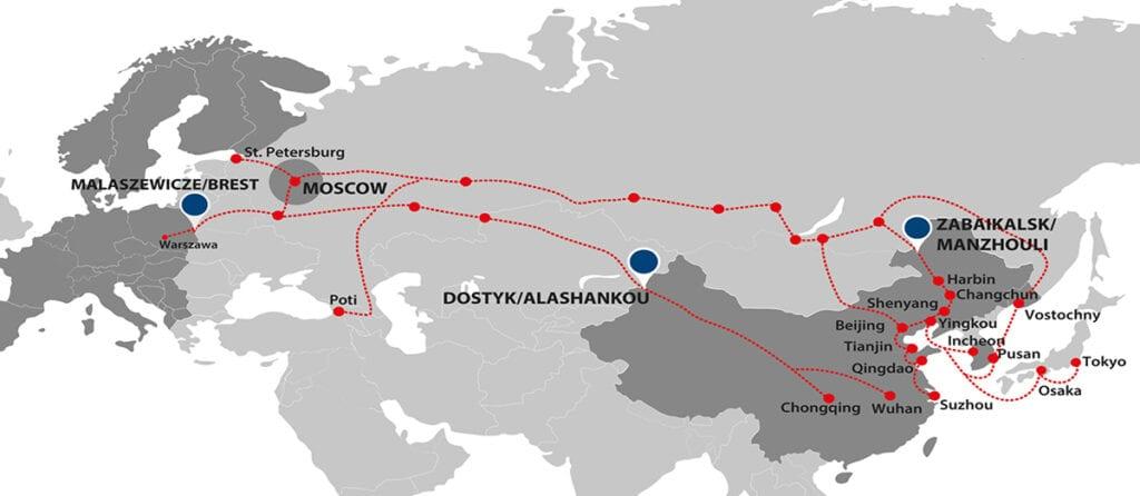Железнодорожные перевозки из Китая